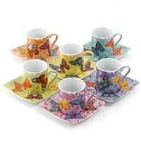 Wallace Sacks: butterfly espresso gift set